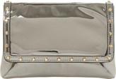 Dune Borriss metallic studded clutch bag