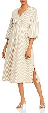 Just Female Paxton Balloon-Sleeve Midi Dress