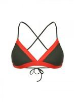 Amanda Wakeley Khaki and Papaya Bikini Top