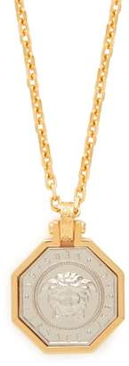Versace Medusa Pendant Necklace - Mens - Gold Multi