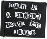 Valentino Garavani embroidered patch wallet