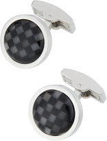 Bugatchi Round Onyx & Mother-of-Pearl Checkerboard Cuff Links