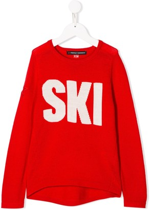 Perfect Moment Kids Ski crew neck jumper