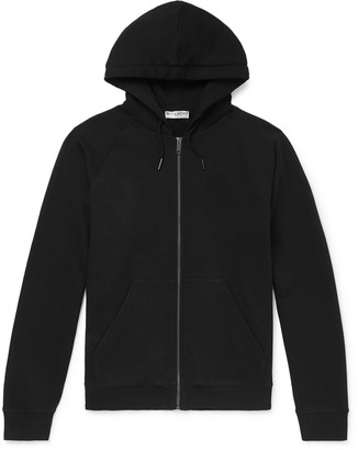 Givenchy Logo-Embroidered Loopback Cotton-Jersey Zip-Up Hoodie