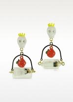 N2 Skull, Poisoned Apple and Snow White in Her Glass Earrings