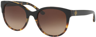 Tory Burch Square Two-Tone Sunglasses
