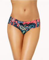 Roxy Salty Floral-Print Cheeky Bikini Bottoms Women's Swimsuit