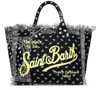 MC2 Saint Barth Bandana Print Canvas Bag