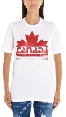 DSQUARED2 Canada Logo Print T-Shirt