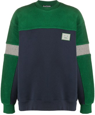 Acne Studios Contrast Panel Fleece Sweatshirt