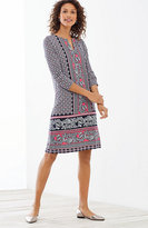 J. Jill Paisley-Border Printed Knit Dress