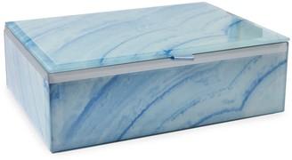 Lola Rose London Stone Print Treasure Box Blue Lace Agate