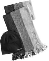 Calvin Klein Men's Ombre Scarf & Hat Set