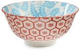 "Certified International Chelsea Collection Red Beehive/Aqua 6.25"" Bowl"