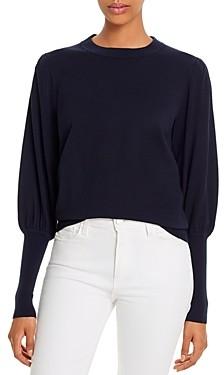 Minnie Rose Bishop-Sleeve Sweater