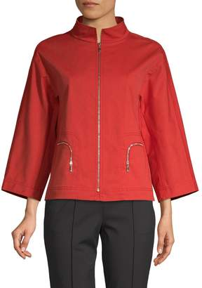 Lafayette 148 New York Nelly Stretch-Cotton Jacket