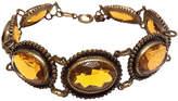 One Kings Lane Vintage Edwardian Amber Glass Bracelet