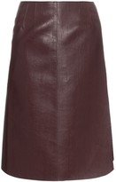 we11done high waisted faux leather wrap skirt