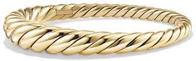 David Yurman 9.5mm Pure Form Cable 18K Bracelet, Size M