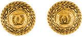 Chanel Medallion CC Clip-On Earrings