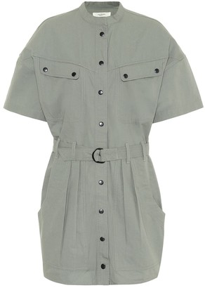 Isabel Marant Ro Zlina Dress - 42 | cotton | green | Verdigris Green - Green/Green
