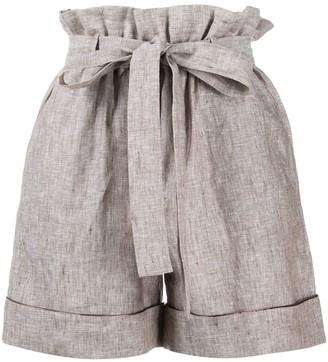 12 Storeez Paperbag Waist Linen Shorts