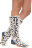 Lemon Shaggy Mukluk Slipper Socks
