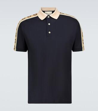 Gucci Interlocking G stripe polo shirt