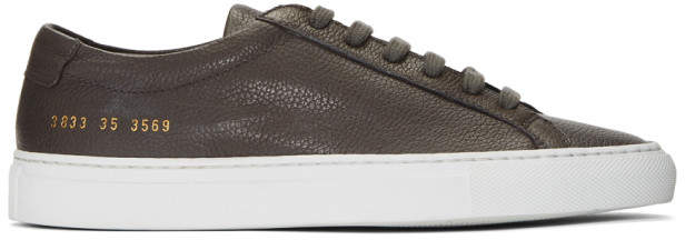 Common Projects Woman By Woman by Grey and White Original Achilles Low Premium Sneakers