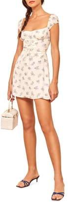 Reformation Jess Lace-Up Minidress
