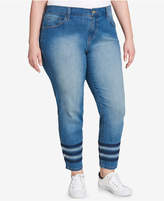 Tommy Hilfiger Plus Size Greenwich Embellished Skinny Ankle Jeans, Created for Macy's