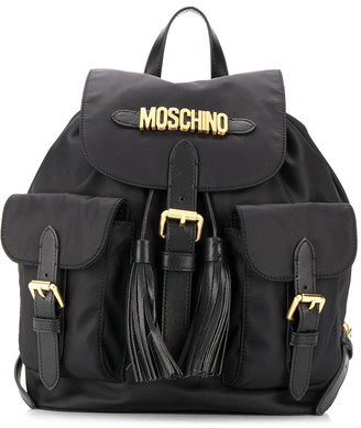 Moschino Logo Tassel Backpack