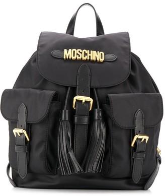 Moschino logo tassel backpack