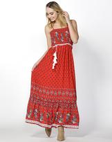 Sass Desert Floral Shirred Maxi