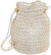 CTM® Women's Crochet Backpack Handbag
