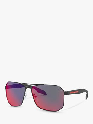 Prada 51VS Men's Hexagonal Sunglasses