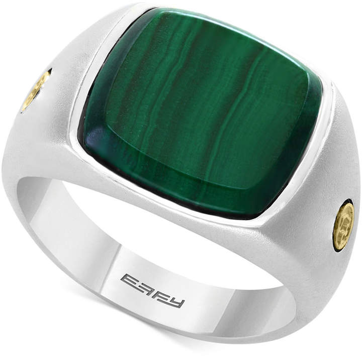 Effy Men's Malachite Ring in Sterling Silver & 18k Gold