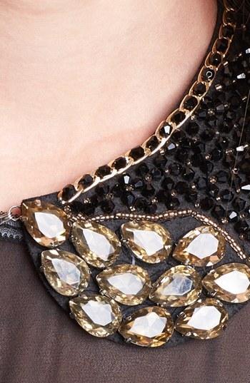 Tasha 'Black Tie' Collar Necklace