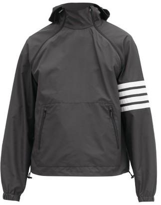Thom Browne Four-bar Hooded Shell Jacket - Dark Grey