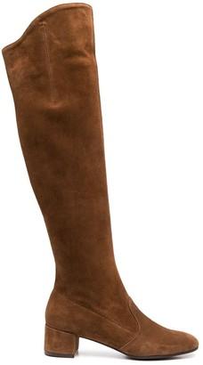 L'Autre Chose Knee-High Suede Boots