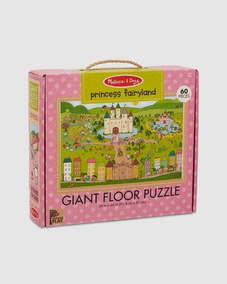 Melissa & Doug Pink Puzzles - Natural Play - Giant Floor Puzzle - Princess Fairyland - Size One Size at The Iconic