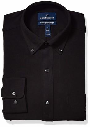 Buttoned Down Men's Classic Fit Supima Cotton Stretch Knit Dress Shirt