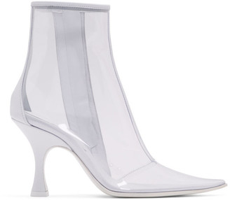 MM6 MAISON MARGIELA White and Transparent PVC Ankle Boots