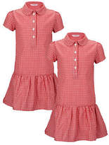 Top Class Pack Of Two Girls Summer Dresses in Red Size 5-6 Years