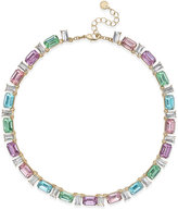 Charter Club Gold-Tone Multi-Crystal Necklace, Only at Macy's