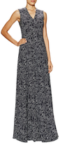 Derek Lam Silk Printed V-Neck Gown