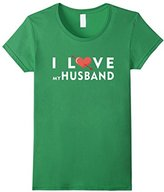 Women's Husband - I love my husband T-shirt Medium