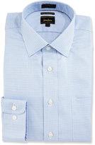 Neiman Marcus CoolMax® Check Dress Shirt, Blue