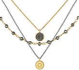 Satya Pyrite Celestial Triple Strand Necklace