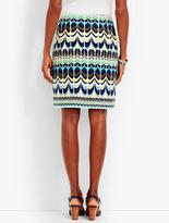 Talbots Colorful Arch-Print Skirt